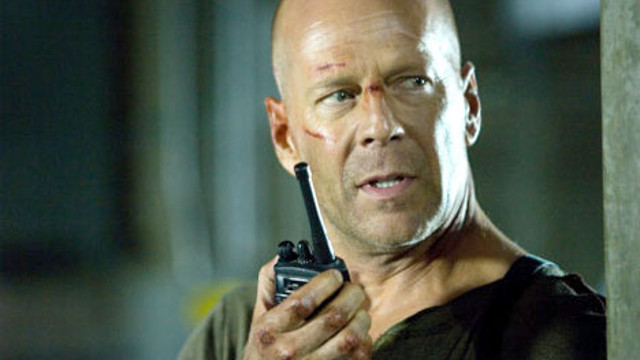 BRAVE AND BALD. Bruce Willis calls the shots anew in 'Live Free or Die Hard'