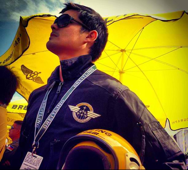 DREAM COME TRUE. Actor Dingdong Dantes's father was a pilot. Photo courtesy of GMA7
