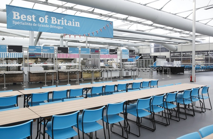 CHOW TIME. London 2012 Athletes Village main dining hall. Courtesy of LOCOG.