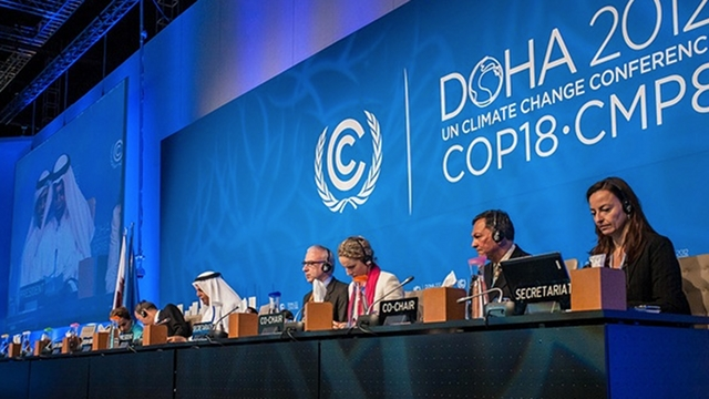 STICKY POINTS. The UN climate change talks in Doha are about to wrap up with delegates not yet agreeing on extending the greenhouse gas-curbing Kyoto Protocol and funding for poor countries. COP18/CMP8 Pool Photo. 