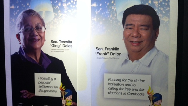 FREEDOM FLAME AWARDEES. Sec. Teresita Deles and Sen. Franklin Drilon were among the awardees of the Freedom Flame. Photo by Adrian Portugal.
