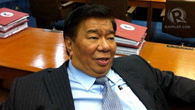 HARDEST PART OVER. Sen Franklin Drilon says the sin tax reform bill hurdled the hardest part, with senators agreeing to raise P40 billion in revenues from tobacco and alcoholic products. Photo by Ayee Macaraig