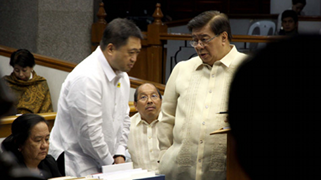 ON TRACK. Sen Franklin Drilon says President Benigno Aquino III will be able to sign his two priority measures by the end of the year with only minor differences in the Senate and House versions of the sin tax bill and the budget. File photo by Alex Nuevaespana, Senate PRIB 