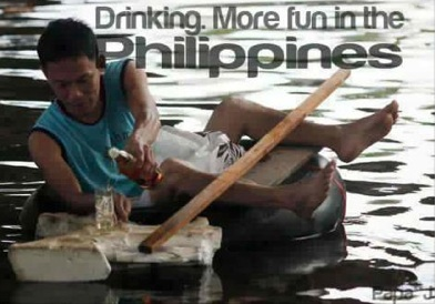 Nonstop rain? Unstoppable drinking. Photo from Facebook