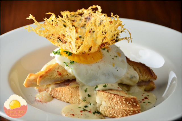 BEAUTIFUL MORNING! Start your day happy with a delicious Croque Madame at the Early Bird Breakfast Club