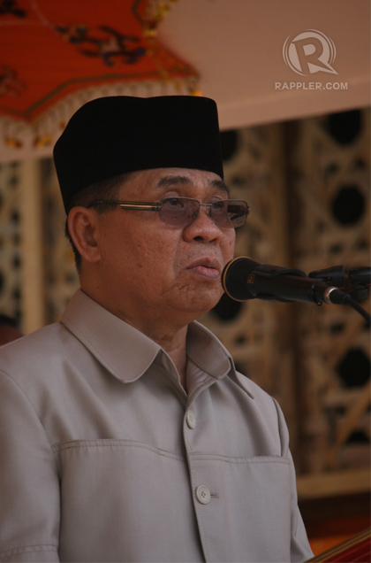 SADDENED. MILF chairman Al Haj Murad Ebrahim tells members peace negotiations with the Aquino administration has been 'snail-paced.' Photo by Karlos Manlupig