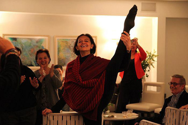 SHE STILL HAS IT. Edna Vida Froilan strikes a dance pose in this photo posted September 2012. Photo from Edna Vida Froilan's Facebook page