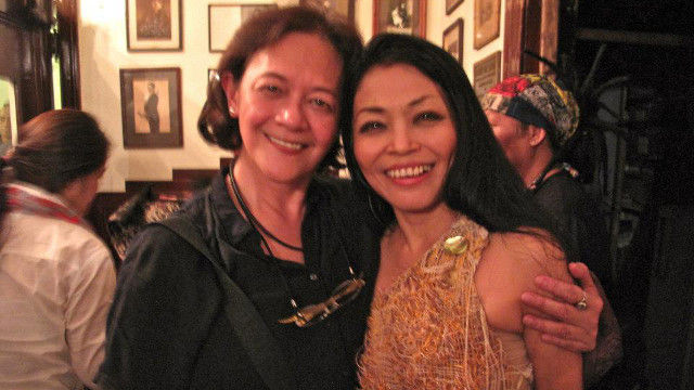 #PINOYPRIDE, PROUDLY PINAY. Edna Vida Froilan with artist and singer Grace Nono. Photo from the Edna Vida Froilan Facebook page