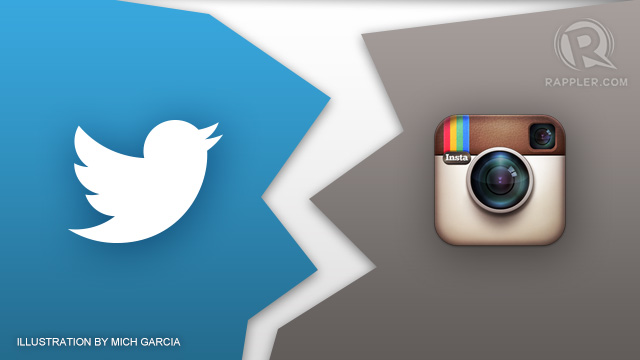 BREAK UP. It looks like the end of good times between Instagram and Twitter. 