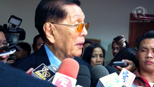 HE'S HARD. Senate President Juan Ponce Enrile welcomes his high survey ratings but says there was a time the ratings, like ice cream, also went soft. 