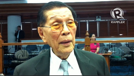 UNKIND TREATMENT? Senate President Juan Ponce Enrile allegedly threatened a poll officer in Cagayan last October 31. File photo