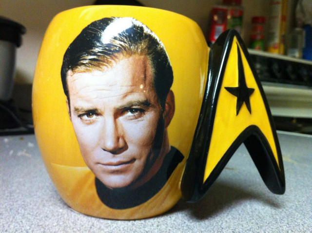 LIVE LONG AND PROSPER. Captain Kirk's interest in space exploration continues. Picture from William Shatner's Twitter account
