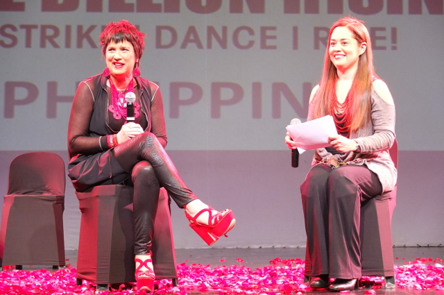 VAGINA DIALOGUES. Eve Ensler and Monique Wilson talk about women's rights in the Philippines. All photos by Pia Ranada