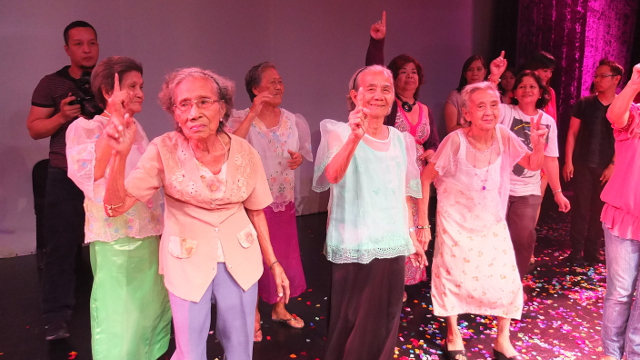 COMFORT WOMEN RISING. The lolas of Lila Filipina join the One Billion Rising dance