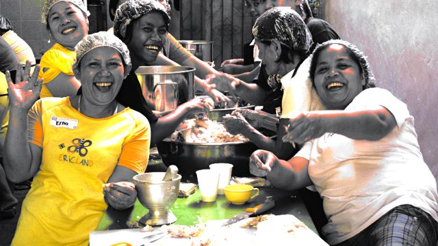 OLD-SCHOOL STYLE. 'Bayanihan' may be an old Filipino concept, but it has brought new life to the schools and communities of Blue Plate for Better Learning.