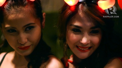 The girls of FHM Philippines celebrate Halloween. Photo by Patricia Evangelista 30 Oct 2012.