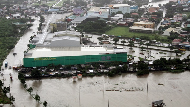 FLOODED: Aerial view of Laguna. Photo by the Philippine Air Force