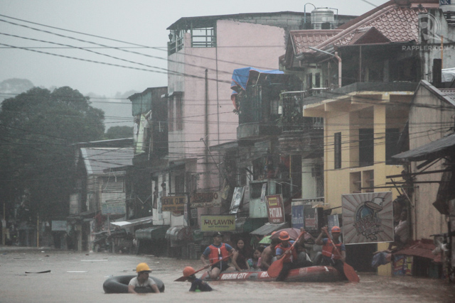 FLOODS. During rainy season, flooding in particular areas in the Philippines devastates lives and industries. Photo by John Javellana