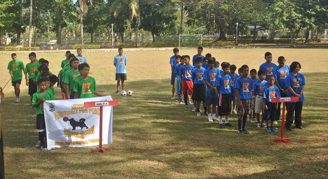 FOOTBALL FOR PEACE IN PALAWAN. PMC in Palawan holds its first introductory match on February 3, 2013