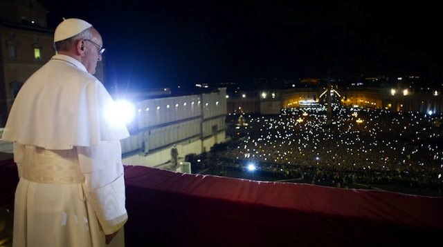 BUSY SCHEDULE. This handout picture released by the Vatican Press Office shows Argentina's Jorge Bergoglio, elected Pope Francis, appearing at the window of St Peter's Basilica's balcony after being elected the 266th pope of the Roman Catholic Church on March 13, 2013. AFP PHOTO/OSSERVATORE ROMANO