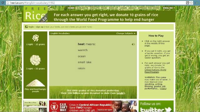 Social media against hunger