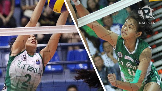 Marano (left) and Galang anchored La Salle's run to the finals in Season 75. Photos by Josh Albelda/Rappler
