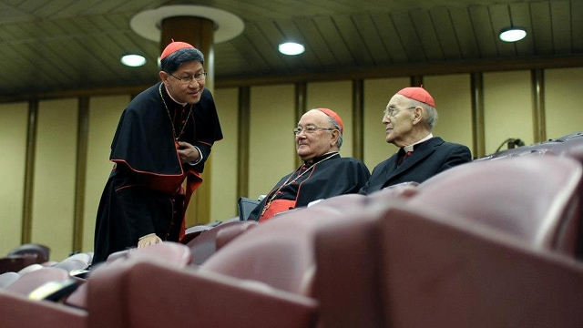 PAPAL CONTENDER. Vatican watchers consider Cardinal Tagle a potential successor of Pope Emeritus Benedict XVI. Photo from news.va's Facebook page