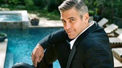 IMAGE FROM THE GEORGE Clooney Facebook fan page