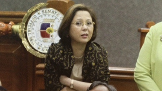 "'TRILLANES' WISH.' Enrile's resigned chief of staff lawyer Gigi Reyes says had the Senate President delivered a speech she prepared, Enrile would have already resigned as Senate leader. File photo of Gigi Reyes from ""The Honor of the Senate."""