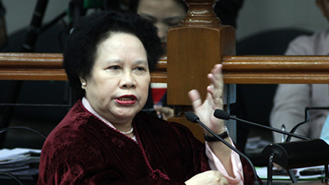 "'NO LOSER.' Sen Miriam Defensor Santiago takes exception to Vice President Jejomar Binay's statement that the anti-political dynasty bill is filed by people who are ""perennial losers"" in elections. File photo"