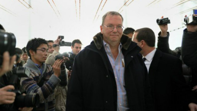 DIVESTING? Google's Chairman Eric Schmidt is selling 42% of his shares in the company. Photo by AFP