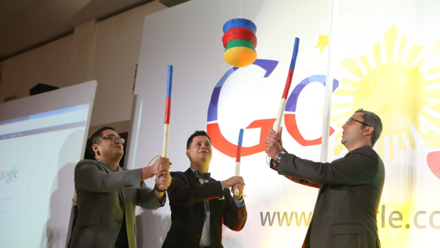 GOOGLE PHILIPPINES. Google's Philippine office launch has a pot-breaking ceremony to commemorate the event.