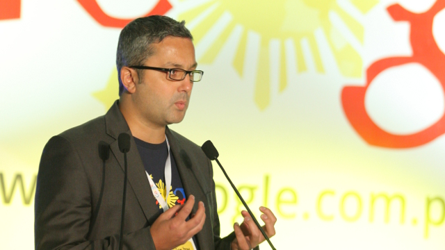 GOOGLE PHILIPPINES. Julian Persaud, Google's Managing Director for Southeast Asia, speaks. Photo from @GooglePH twitter.