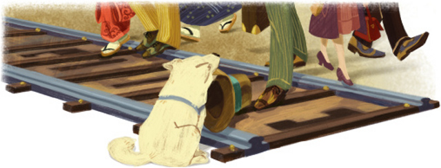 Hom's doodle for Hachiko's 89th birthday