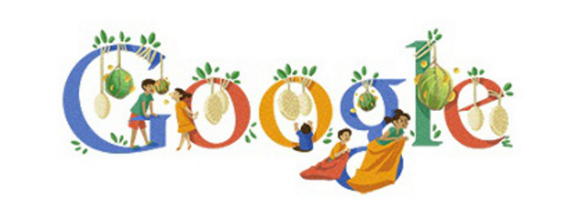 Country-specific doodle for Indonesian Independence Day
