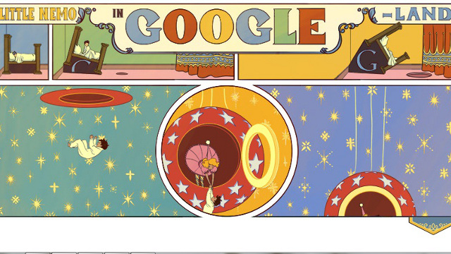 INTERACTIVE. Little Nemo in Slumberland celebrates his 107th anniversary. All images from www.google.com/doodles