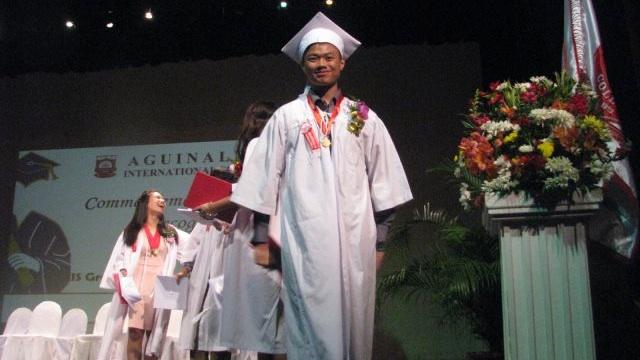 BRIGHT FUTURE. Daniel Dejapin graduates high school from the Aguinaldo International School. Photo from Daniel's Facebook