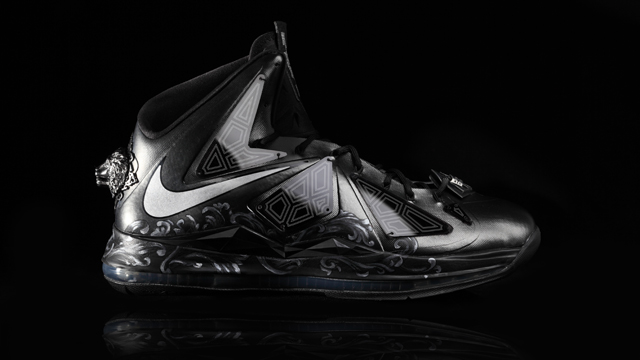THE CUSTOM LEBRON X BY ISABEL GATUSLAO. Shoes made for royalty. Photo courtesy of Isabel Gatuslao