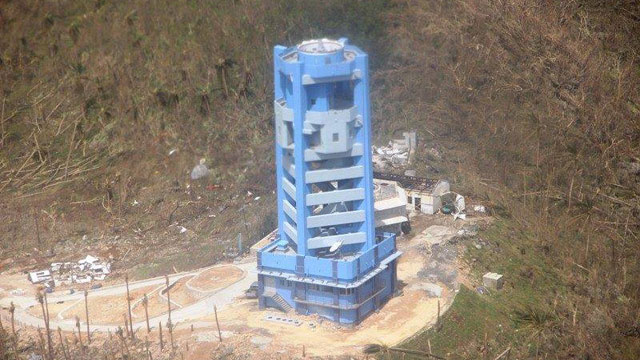 MISSING. The PAGASA Guiuan Doppler radar station sustained wind