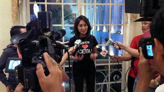 MONDAY EVICTION? Embattled Cebu Governor Gwen Garcia says police