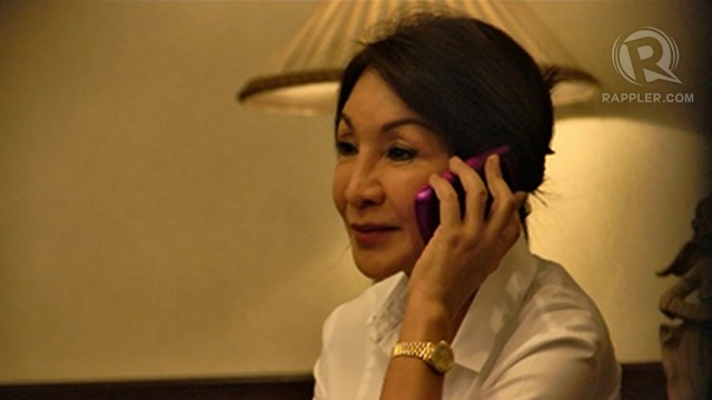 HOLDING GROUND. File photo of Cebu Gov Gwen Garcia as she refuses to leave the provincial capitol.
