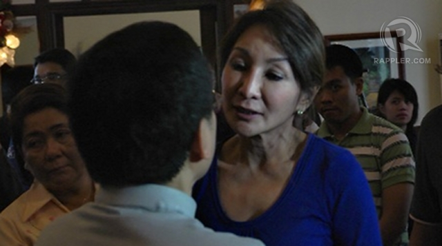 'SAD' CHRISTMAS. Suspended Cebu Gov Gwen Garcia spends Christmas  incidentally her daughter's birthday  in the capitol, defying a 6-month suspension. File photo taken Dec 22