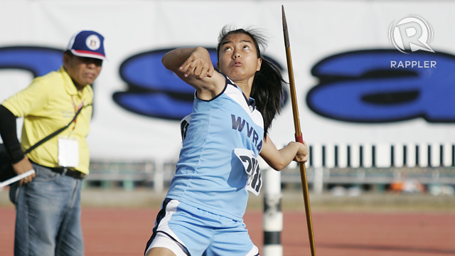 JAVELIN THROW. Photo by Rappler/Josh Albelda.