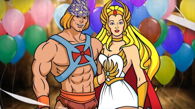 HAPPY BIRTHDAY, HE-MAN! Prince Adam of Eternia as He-man with his twin sister Princess Aurora as She-ra. Fan art from the He-man Facebook page