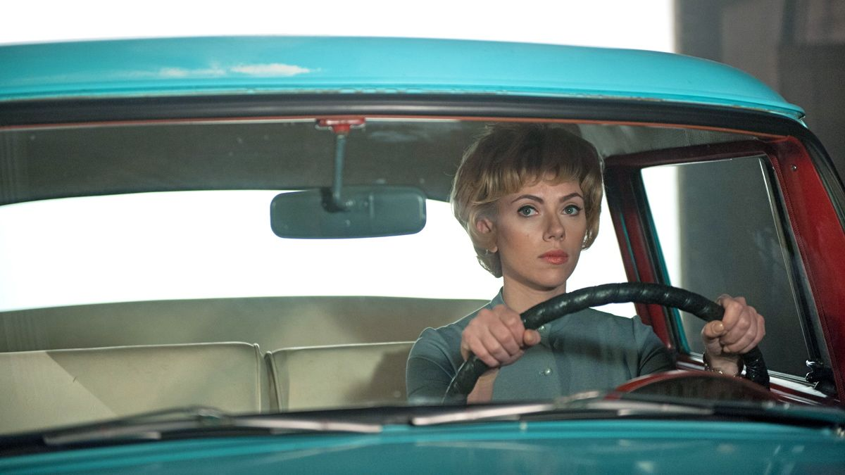 Scarlett Johansson as Janet Leigh, the actress who played the lady who gets murdered in the shower in 'Psycho'