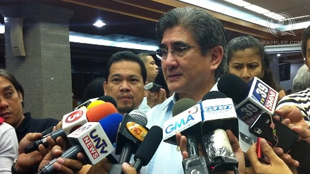 "'EASY PART.' Sen Gregorio Honasan II said the easy part is getting the Senate to pass the FOI bill, the ""other part"" is educating the public about its importance. File photo by Ayee Macaraig"