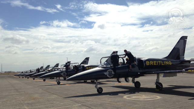 NEED FOR SPEED. The sexy jets of the Breitling Jet Team gleaming and ready to fly. Photo by Katherine Visconti