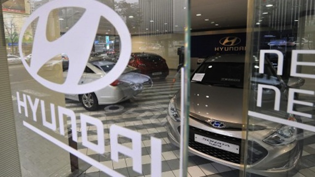 LOW SUPPLY. Hyundai car sales fall in Jan-Feb, pulling down overall imported vehicle sales in the Philippines. Photo by AFP