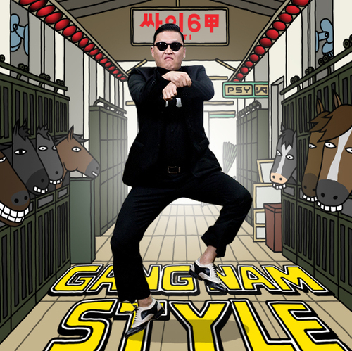 GANGNAM STYLE. Twitter photo from @psy_oppa