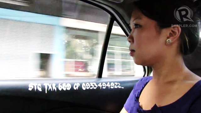 IN TRANSIT. Rappler Fellow Devon Wong explores Manila with the help of some taxi drivers. Photo by Charles Salazar